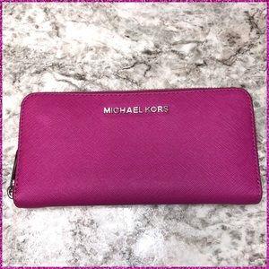 Magenta Zippy Wallet